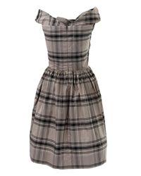 Vivienne Westwood Anglomania - Gray Grey Tartan Marghi Dress - Lyst
