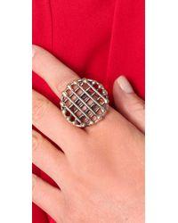 Anndra Neen - Metallic Circle Cage Ring - Lyst