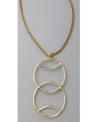Anndra Neen - Metallic Double Venus Pendant Necklace - Lyst