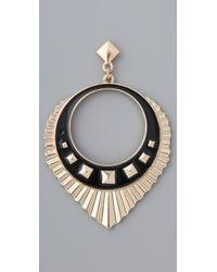 Belle Noel - Metallic Egyptian Drop Hoop Earrings - Lyst