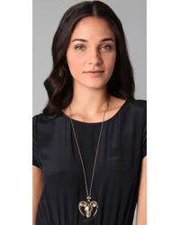Belle Noel - Metallic Rams Head Locket Necklace - Lyst