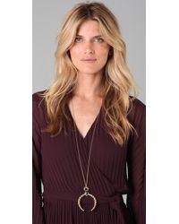 Belle Noel - Metallic Rams Horn Pendant Necklace - Lyst