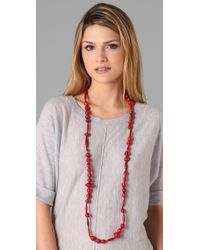 Bluma Project   Red Ola Paper Bead Necklace   Lyst