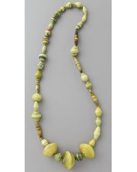 Bluma Project | Yellow Ola Paper Bead Necklace | Lyst