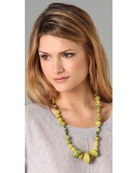 Bluma Project - Yellow Ola Paper Bead Necklace - Lyst