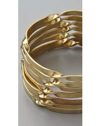By Malene Birger - Metallic Typaro Bangle Set - Lyst