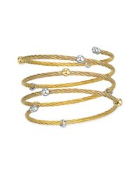 Charriol | Metallic Nautical Cable Coil Bangle | Lyst