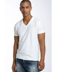 DIESEL   White Tos Extra Trim Fit V-neck Slub T-shirt for Men   Lyst