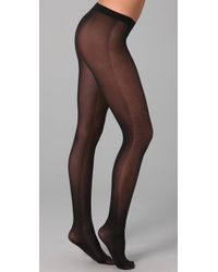Falke | Black Opaque Checks Tights | Lyst