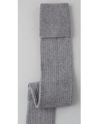 Falke - Gray Striggings Ribbed Over The Knee Socks - Lyst