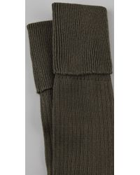 Falke Gray Striggings Ribbed Over The Knee Socks