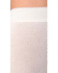 Falke   White Striggings Cable Knit Tights   Lyst