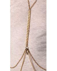 Fallon - Metallic Harness Body Chain - Lyst