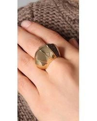 Giles & Brother - Metallic Nara Gold Pave Ring - Lyst