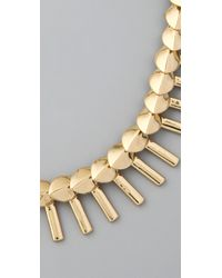 Giles & Brother - Metallic Petal Fringe Necklace - Lyst