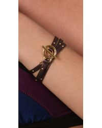 Gorjana | Purple Graham Studded Wrap Bracelet | Lyst