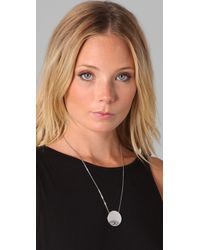 House of Harlow 1960 - Metallic Large Evil Eye Necklace - Lyst