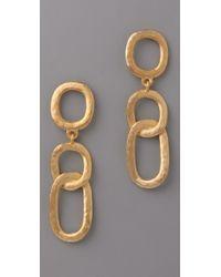 Kenneth Jay Lane | Metallic Open Link Drop Earrings | Lyst