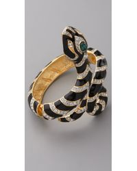 Kenneth Jay Lane | Black Snake Bracelet | Lyst