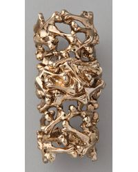 Low Luv by Erin Wasson - Metallic Bone Armor Ring - Lyst
