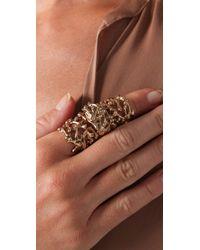 Low Luv by Erin Wasson - Metallic Bone Armor Ring - Lyst