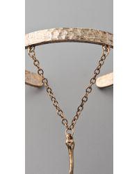 Low Luv by Erin Wasson | Gold Bone Hand Bracelet | Lyst