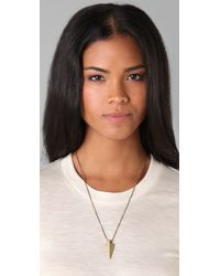 Madewell | Metallic Arrowhead Necklace | Lyst