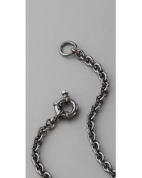 Marc By Marc Jacobs - Black Classic Marc Long Necklace - Lyst