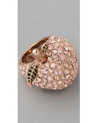 Marc By Marc Jacobs | Pink 10th Anniversary Apple Ring | Lyst