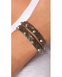 Marc By Marc Jacobs - Brown Last Dance Leather Wrap Bracelet - Lyst