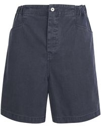 MHL by Margaret Howell | Blue Indigo Gym Shorts | Lyst