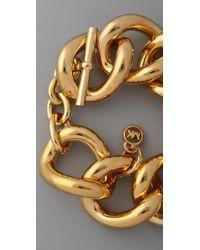 Michael Kors | Metallic Chunky Chain Bracelet | Lyst