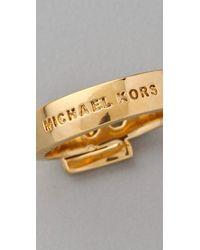 Michael Kors - Metallic Jet Set Buckle Ring - Lyst