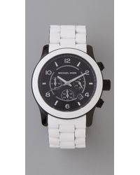 Michael Kors | White Large Runway Watch | Lyst