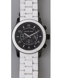 Michael Kors - White Large Runway Watch - Lyst