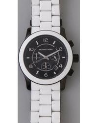 Michael Kors | White Large Runway Watch | Lyst
