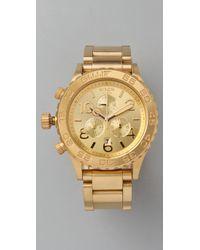 Nixon | Metallic Oversized Chrono Watch | Lyst