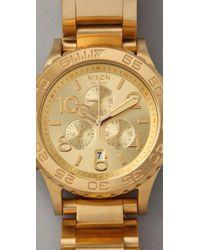 Nixon - Metallic Oversized Chrono Watch - Lyst
