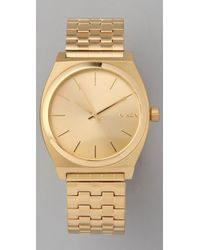 Nixon | Metallic Oversized Time Teller Watch | Lyst