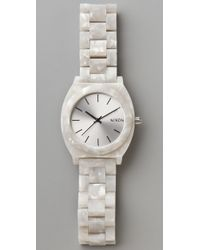 Nixon | White Time Teller Acetate Watch | Lyst