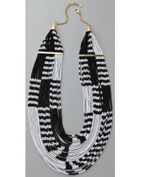 Noir Jewelry - Black Multi Strand Beaded Necklace - Lyst