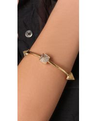 Noir Jewelry - Metallic Single Pyramid Bangle - Lyst