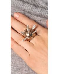 Pamela Love | Metallic Crystal Dome Ring | Lyst