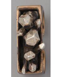 Pamela Love   Metallic Double Finger Crystal Ring   Lyst