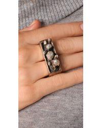 Pamela Love - Metallic Double Finger Crystal Ring - Lyst