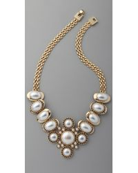 Rachel Leigh | Metallic Society Statement Bib Necklace | Lyst