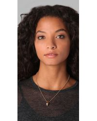 Rachel Leigh - Metallic Tryst Delicate Drop Necklace - Lyst