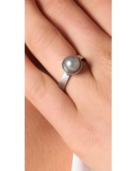 Rachel Leigh - Metallic Society Single Pearl Ring - Lyst