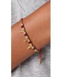 Shashi - Metallic Indian Bead Bracelet - Lyst