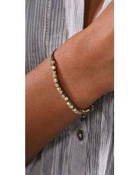 Shashi - Gray Single Petit Golden Nugget Adjustable Bracelet - Lyst